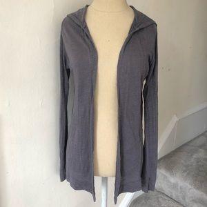 Cynthia Rowley Hooded Linen Cardigan Sweater EUC